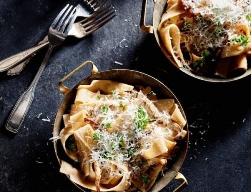 Garlic & Mushroom Pappardelle