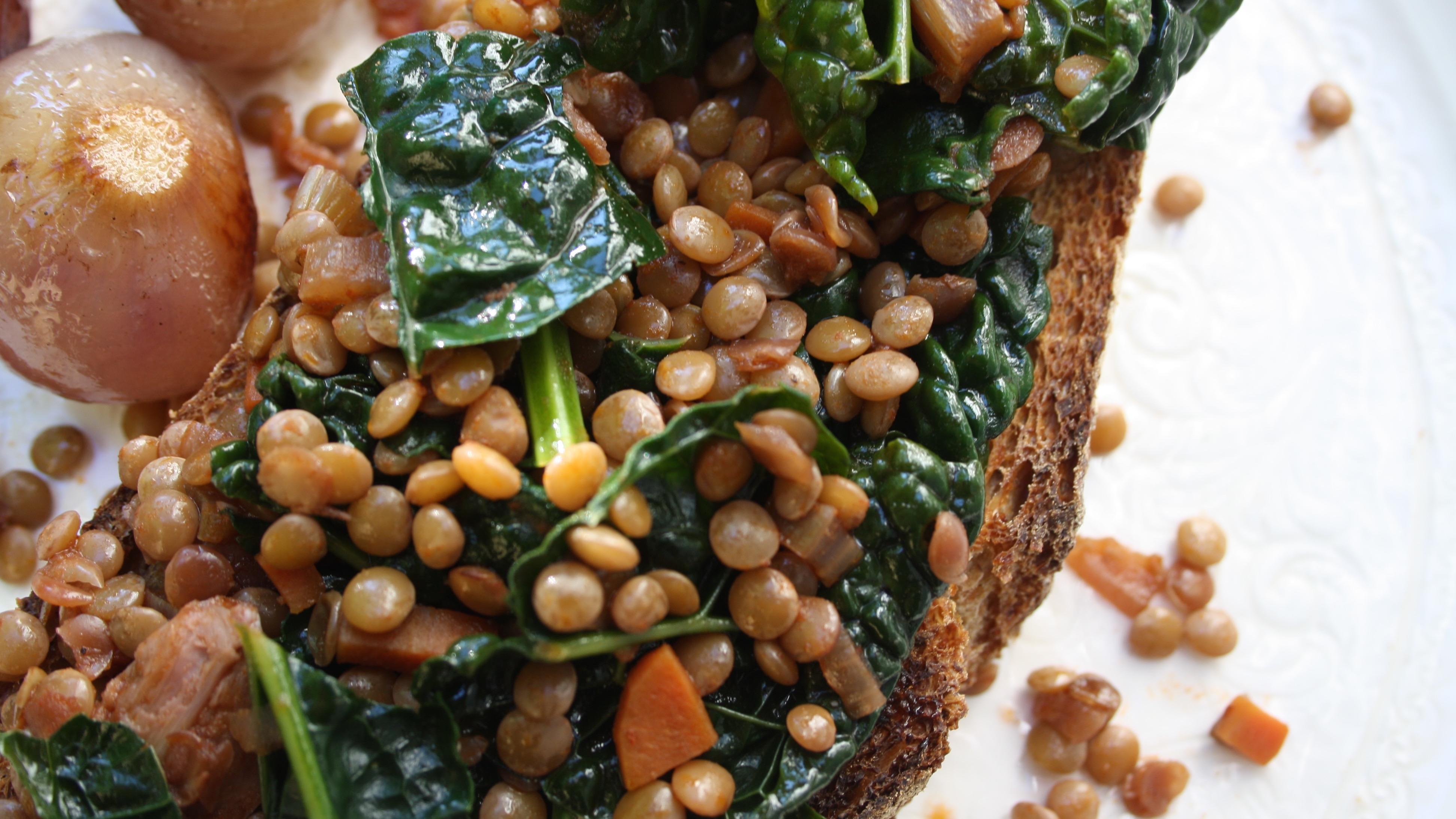 lentils-on-toast