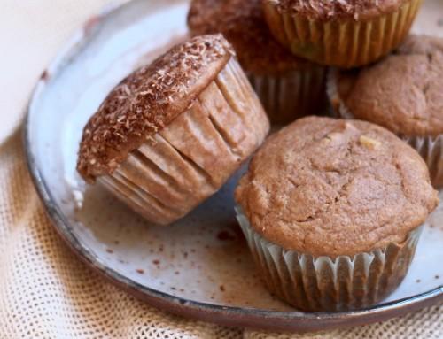 Whole Wheat Apple Walnut Yogurt Muffins